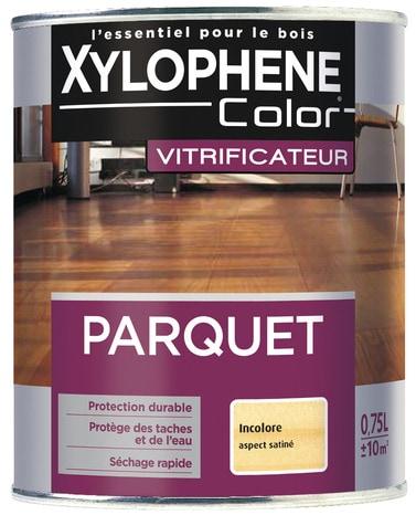 Vitrificateur incolore satin pour parquet 0 75 l brico for Parquet mat ou satine