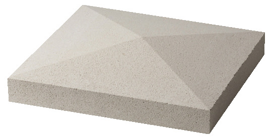 Chapeau Pour Pilier Blanc L40 X L40 X H 55 Cm