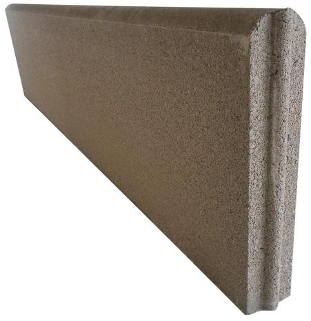 bordure en b ton grise 100x25x5 cm brico d p t. Black Bedroom Furniture Sets. Home Design Ideas