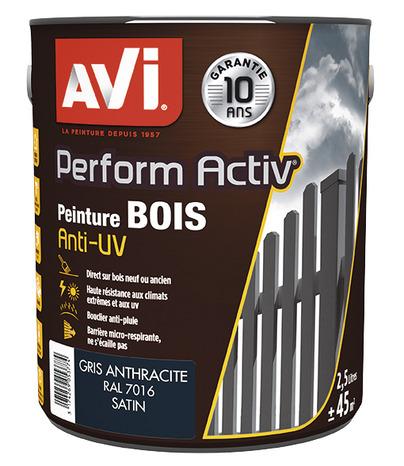 Bois satin avi 2l5 gris anthracite gris anthracite 2 5 l for Peinture bois exterieur gris anthracite
