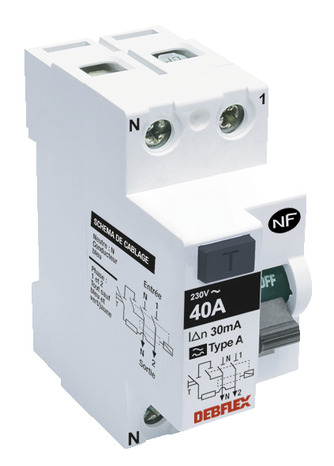 Interrupteur Differentiel A Vis Type A 40a 30ma Brico Depot