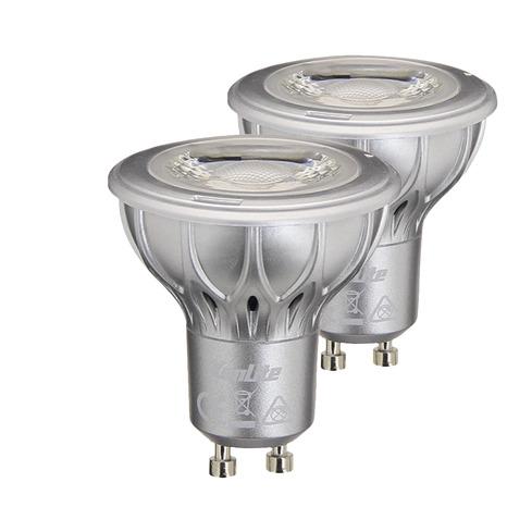 lot 2 ampoules led reflecteur gu10 230 lm 4000 k brico d p t. Black Bedroom Furniture Sets. Home Design Ideas