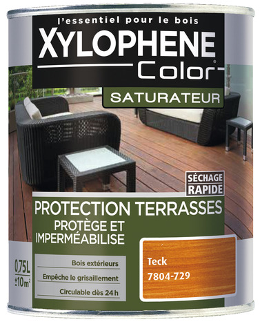 Saturateur Bois Naturel Ambre Pour Protéger Et Imperméabiliser Les Bois Extérieurs 0 75 L Xylophene