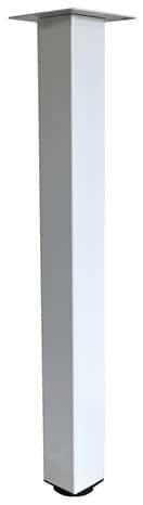 pied pour table haute blanc brico d p t. Black Bedroom Furniture Sets. Home Design Ideas