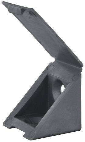 Taquet équerre Simple En Plastique Gris 22x22x23 Mm