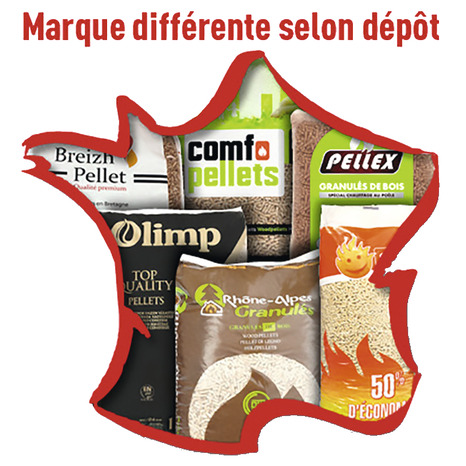 Granulés De Bois Dinplus 15 Kg