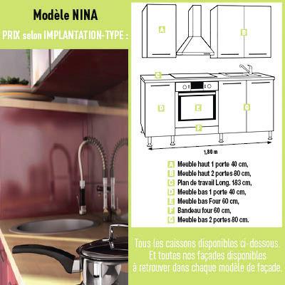 Cuisine nina brico d p t for Configurer ma cuisine