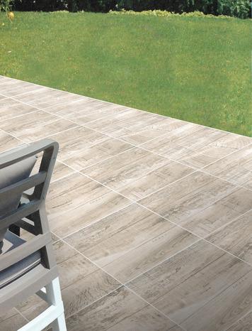 Carrelage en gr s maill ch ne naturel pour sol ext rieur for Carrelage terrasse imitation bois pas cher