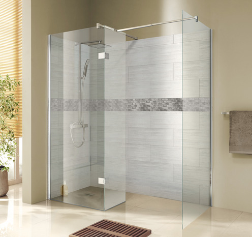 paroi walk in kroma verre transparent 195x80 cm brico d p t. Black Bedroom Furniture Sets. Home Design Ideas