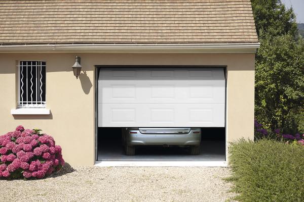 De Garage Sectionnelle Motorisée En Acier H Cm L Cm - Porte de garage sectionnelle avec porte pvc brico depot