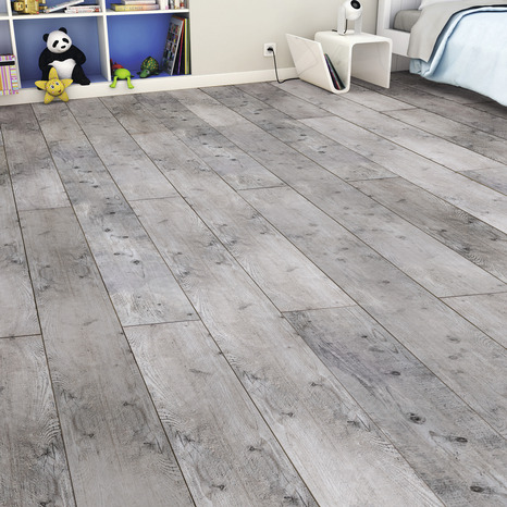de sol stratifié imitation chêne blanchi vintage l. 1286 mm l. 282 ... - Sol Stratifie Pour Salle De Bain