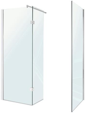 Paroi walk in kroma verre transparent 195x125 cm brico d p t for Paroi douche moretti