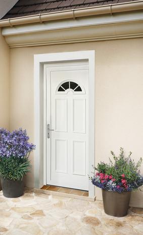 porte d 39 entr e en pvc et aluminium h 215 l 90 cm ep 6 cm brico d p t. Black Bedroom Furniture Sets. Home Design Ideas