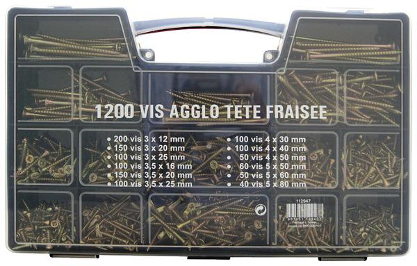 Vis A Bois Brico Depot - ASSORTIMENT DE 1200 VIS AGGLO Brico Dép u00f4t