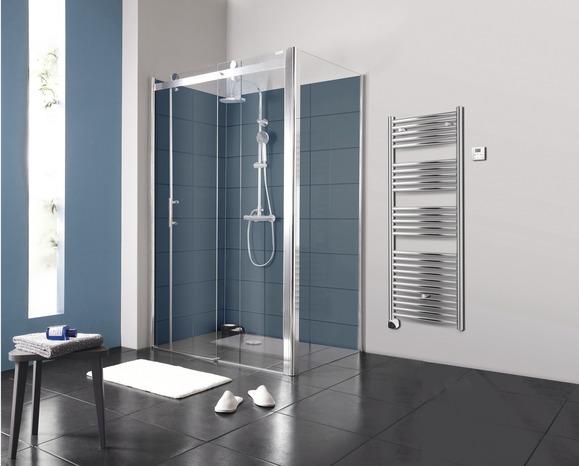 porte coulissante atoll verre transparent h 195 cm l 120 cm brico d p t. Black Bedroom Furniture Sets. Home Design Ideas