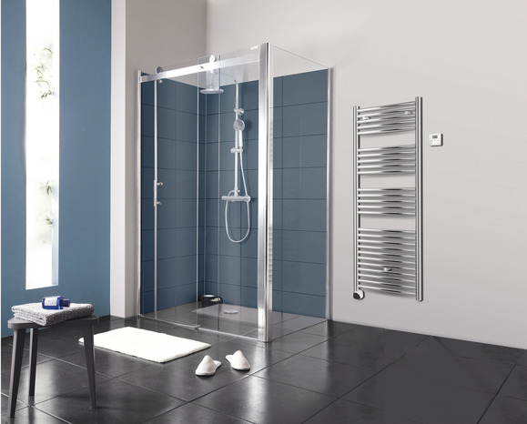 Porte coulissante atoll verre transparent h 195 cm l 120 for Porte isolante interieure brico depot