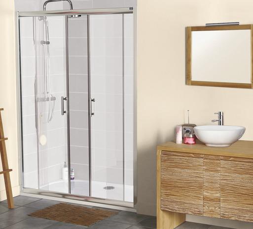 porte coulissante lagon verre transparent h 185 cm l 140 cm brico d p t. Black Bedroom Furniture Sets. Home Design Ideas