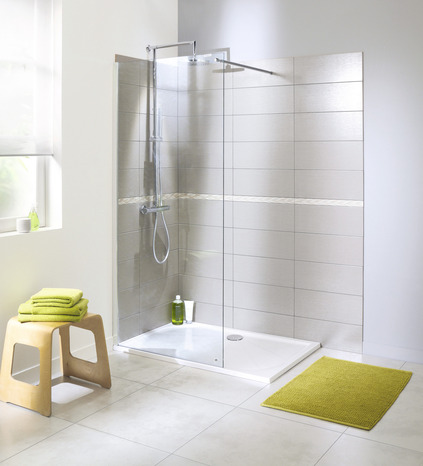 paroi de douche walk in atoll verre transparent h 195 cm l 90 cm brico d p t. Black Bedroom Furniture Sets. Home Design Ideas