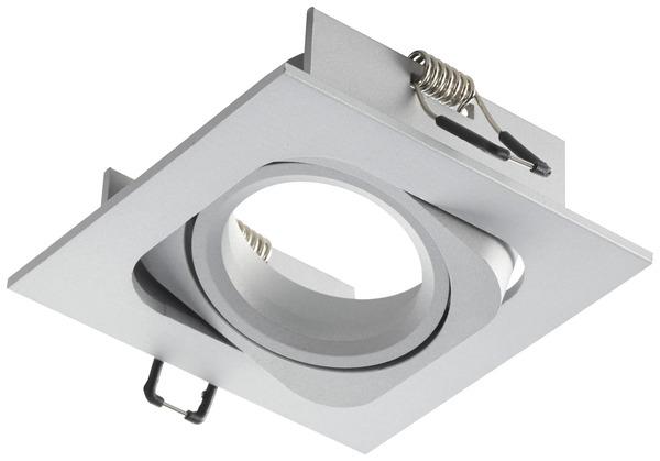 Spot orientable carr en fonte d 39 aluminium 1 led 6 w - Spot exterieur encastrable orientable ...