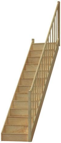 escalier droit en h 202 tre avec re bois vol 233 e droite re bois brico d 233 p 244 t