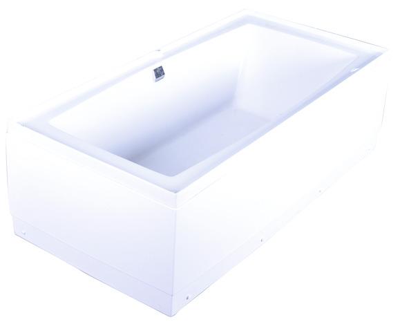 Baignoire douche 170x85x215 cm brico d p t - Baignoire avec tablier acrylique ...