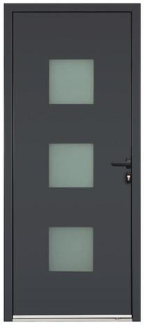 portes d 39 entr e aluminium la porte d 39 entr e grise brico d p t. Black Bedroom Furniture Sets. Home Design Ideas