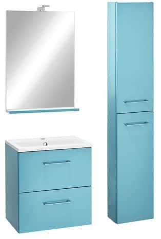 Meuble slim turquoise cm le plan vasque brico d p t - Meuble vasque salle de bain brico depot ...