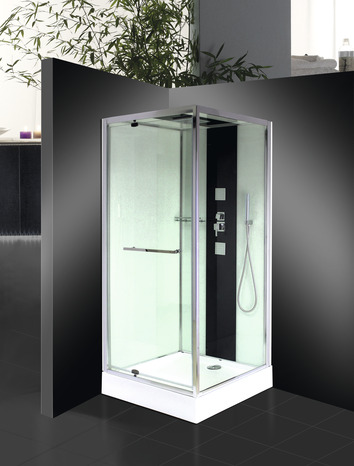 cabine de douche carr e avec porte pivotante 90x90 cm brico d p t. Black Bedroom Furniture Sets. Home Design Ideas