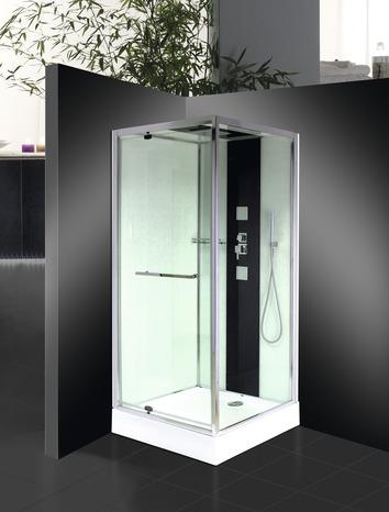 Cabine de douche carr e avec porte pivotante 90x90 cm for Porte de douche 90x90