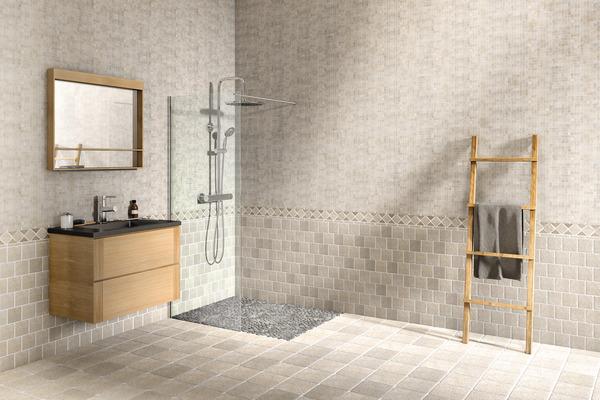 mosa que pierre naturelle travertin beige 30x30 cm carreau 10x10 cm brico d p t. Black Bedroom Furniture Sets. Home Design Ideas