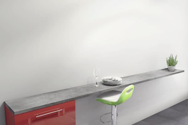 plan de snack d cor imitation b ton cir long 200 cm brico d p t. Black Bedroom Furniture Sets. Home Design Ideas