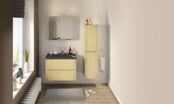 """origin"""" 80 cm le meuble + le plan vasque - brico dépôt"""