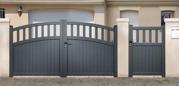 portail aluminium battant lugo haut 1 60 m brico d p t. Black Bedroom Furniture Sets. Home Design Ideas