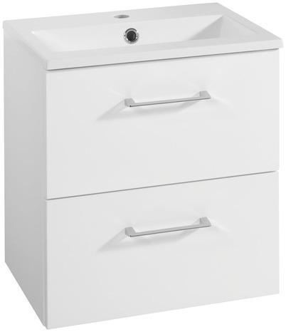 meuble sous vasque slim laqu blanc brillant l 50 x h 52 x cm brico d p t. Black Bedroom Furniture Sets. Home Design Ideas