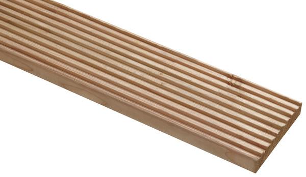 lame de terrasse en douglas aspect bois l 3 m x l 14 5 cm x p 27 mm brico d p t. Black Bedroom Furniture Sets. Home Design Ideas