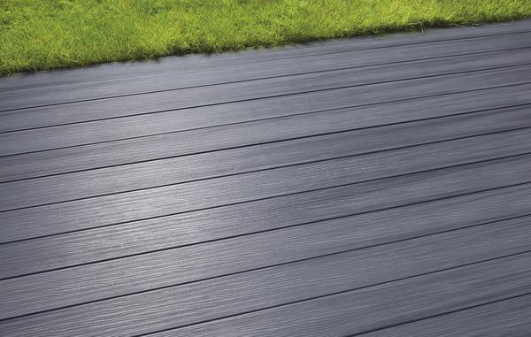 Lame de terrasse composite coloris gris brico d p t - Lamelle composite pour terrasse ...