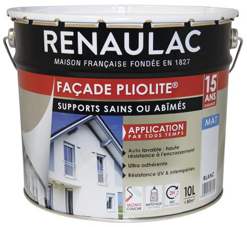 peinture de fa ade pliolite ton pierre mat monocouche 10 l brico d p t. Black Bedroom Furniture Sets. Home Design Ideas