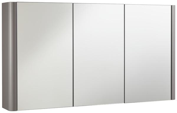 Armoire miroir Salsa laqué taupe brillant L. 100 x H. 55 x P 14 cm ...