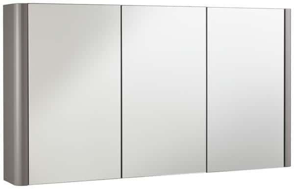 armoire miroir salsa laqu taupe brillant l 100 x h 55 x. Black Bedroom Furniture Sets. Home Design Ideas