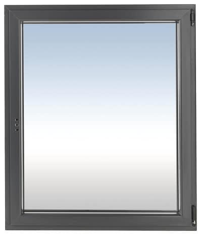 Fenêtre En Aluminium Gris Anthracite Droite L 60 X H 75 Cm Brico