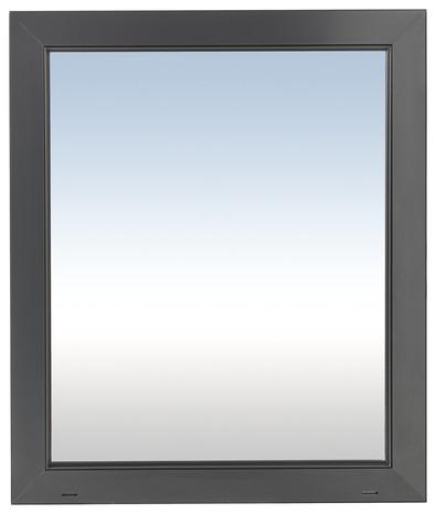 Fen tre en aluminium gris anthracite gauche l 60 x h 75 for Fenetre 60x75