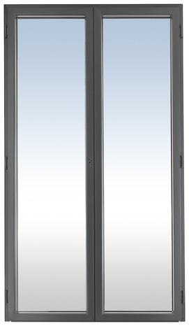 Porte fen tre gris en aluminium droite l 120 x h 215 cm uw 1 7 brico d p t for Porte fenetre 240 x 215