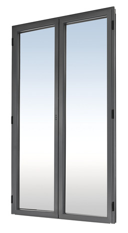 porte fen tre gris en aluminium droite l 80 x h 205 cm brico d p t. Black Bedroom Furniture Sets. Home Design Ideas