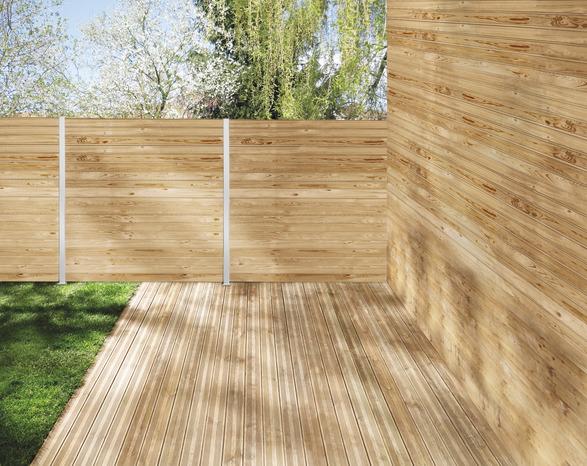 lames de terrasse en m l ze 4 m x l 14 5 cm x p 24 mm brico d p t. Black Bedroom Furniture Sets. Home Design Ideas