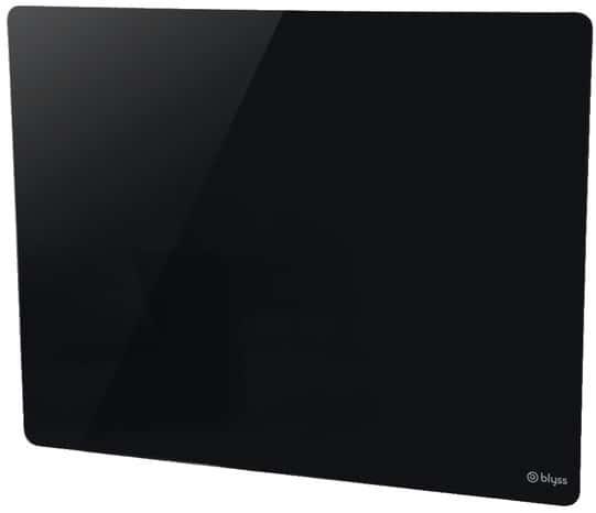 panneau rayonnant verre noir 1000 w brico d p t. Black Bedroom Furniture Sets. Home Design Ideas
