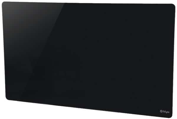 panneau rayonnant verre noir 1000 w blyss brico d p t. Black Bedroom Furniture Sets. Home Design Ideas