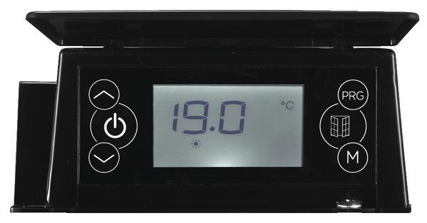 radiateur inertie s che maela noir 1 500 w h 57 5 x l 76 cm brico d p t. Black Bedroom Furniture Sets. Home Design Ideas