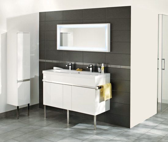 Meuble new york blanc cm brico d p t for Salle bain imandra