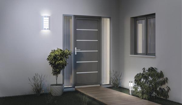 Porte d entr e aluminium droite brico d p t - Tringle rideau porte d entree ...