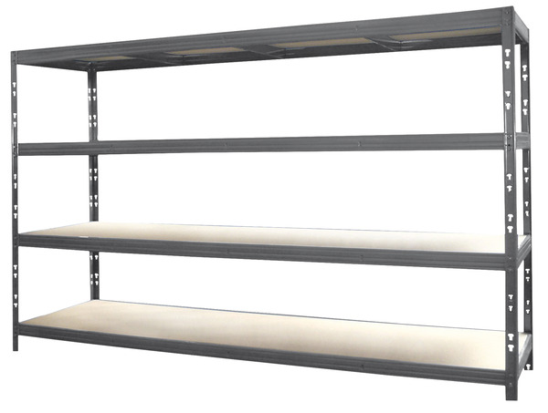 tag re rack avec 4 tablettes charges lourdes l 220 cm p 50 cm brico d p t. Black Bedroom Furniture Sets. Home Design Ideas